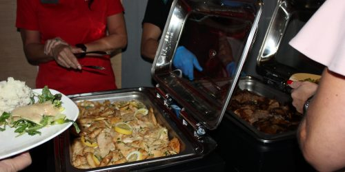 Doral Chamber of Commerce introduces delicious food from Topgolf Doral Networking Luncheon Event.