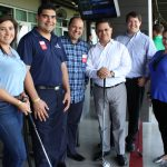 Doral Chamber of Commerce introduces a group photo of golfers and members at Topgolf Doral Networking Luncheon Event.