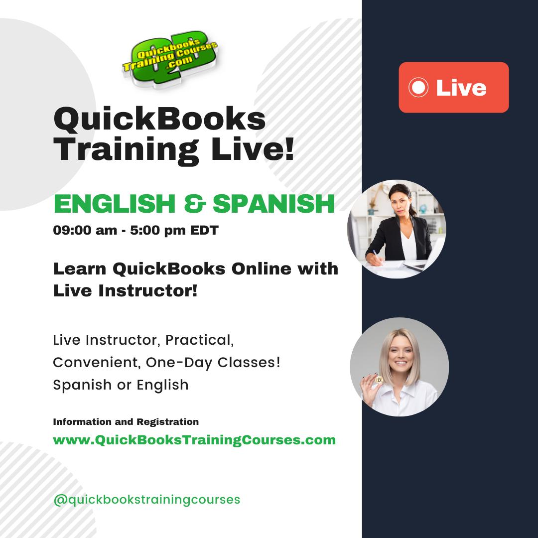 QuickBooks Live Training Miami, Orlando, Tampa, Naples, Ft. Myers, Jacksonville.