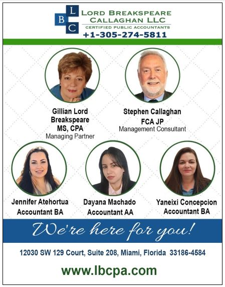 Best CPAs in Miami - Lord Breakspeare Callaghan LLC. A Doral CHamber of COmmerce