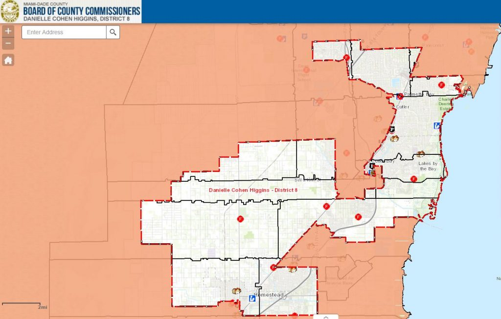 Miami Dade District 8 Map
