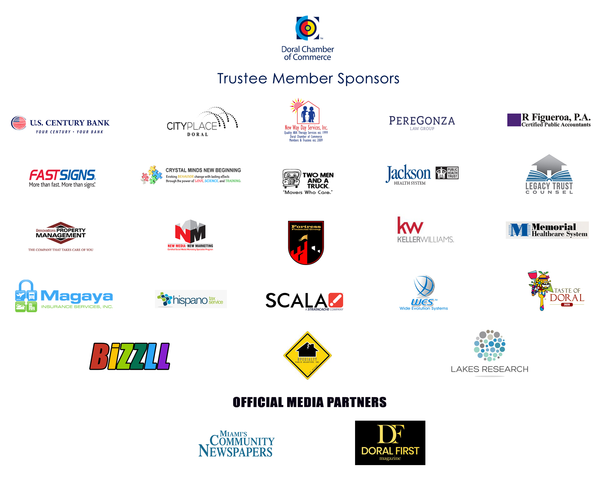 Doral Chamber of Commerce Trustee Members. The Best of Doral Businesses.