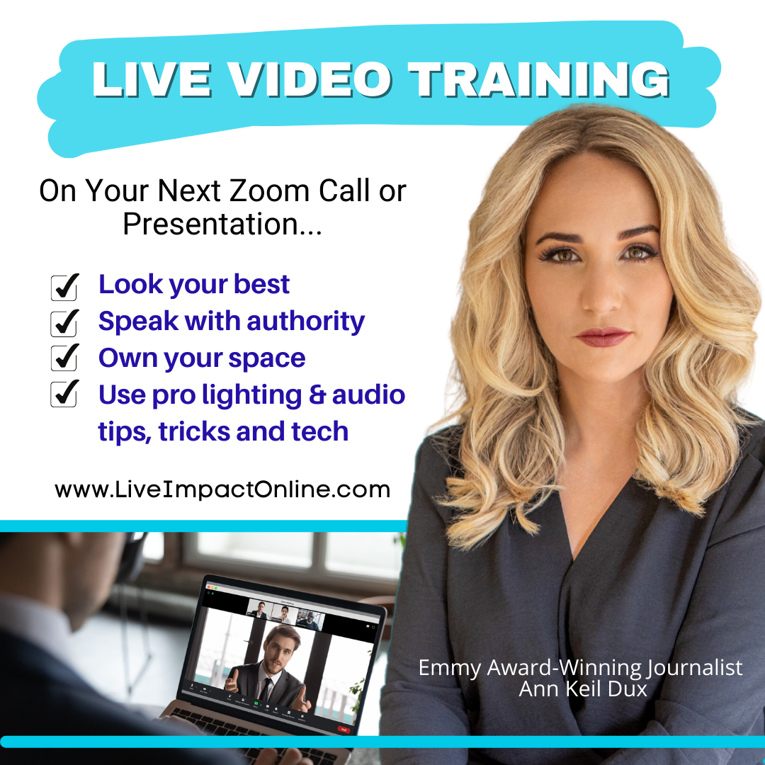 Live Video Training with Ann Deil Dux. Invitation to workshop for Doral Chamber of Commerce members.