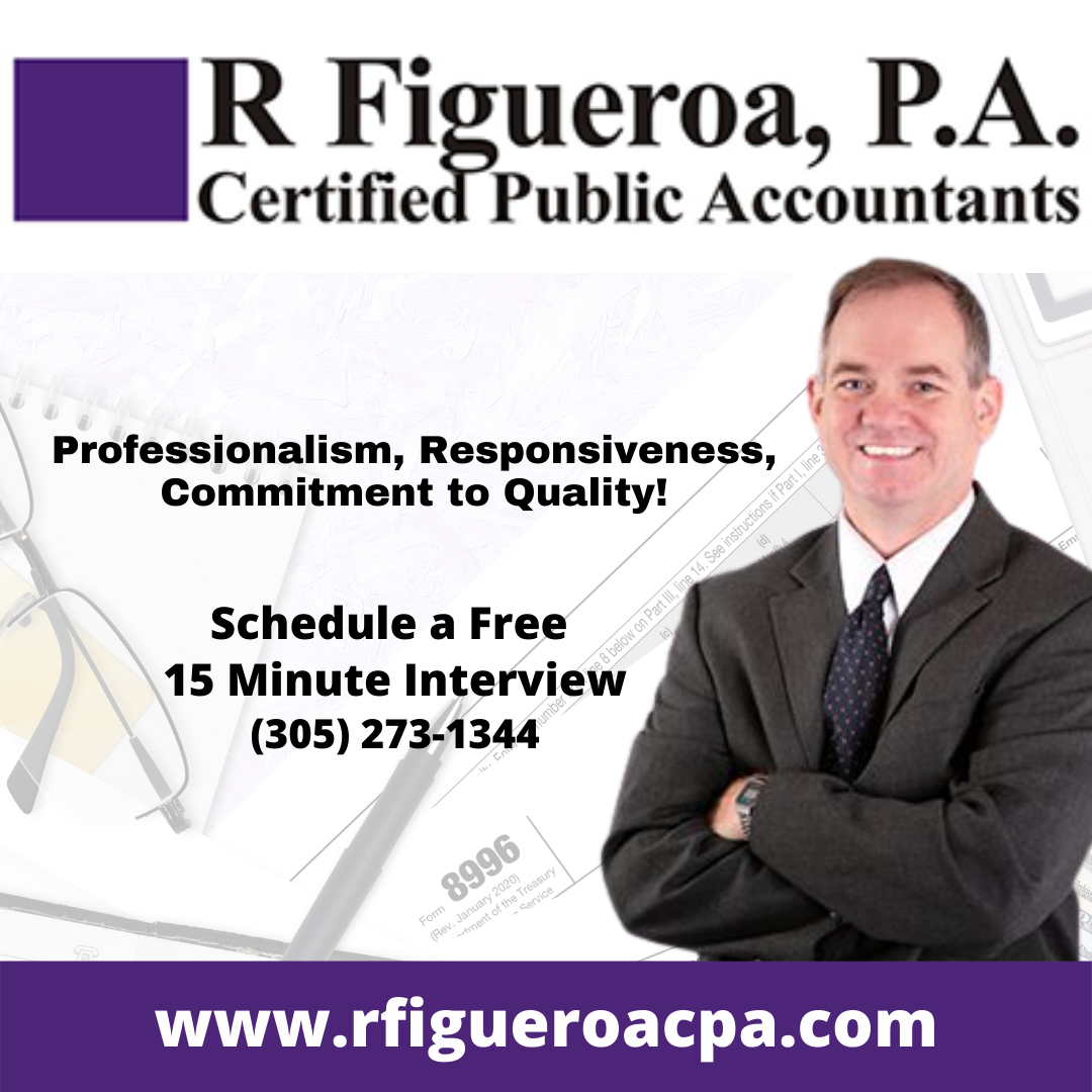 R Figueroa, P.A. Certified Public Accountants Near Me. Miami Florida Doral Chamber of Commerce Trustee Member.