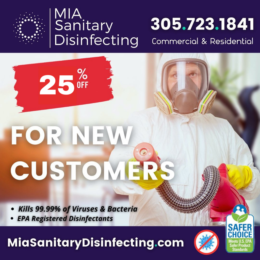 Take Action Against COVID Delta Variant with MIA Sanitary Disinfecting. Doral Chamber.