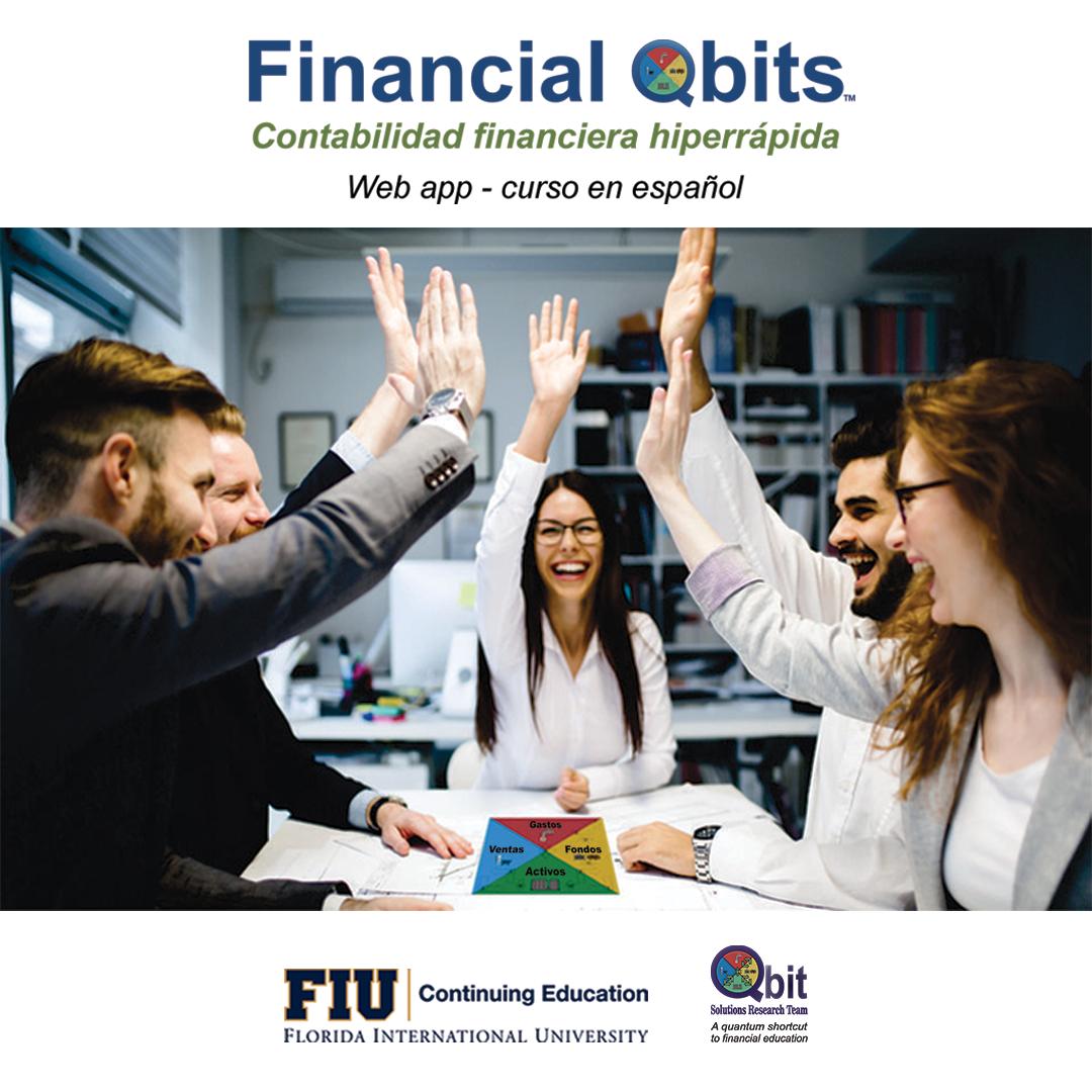 Financial Qbits en Español. Florida International University FIU Doral Chamber.